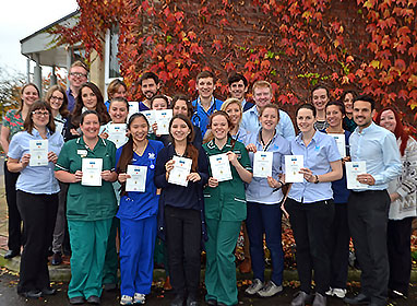 The team at Highcroft Veterinary Group with their Outstanding Practice Standards Awards