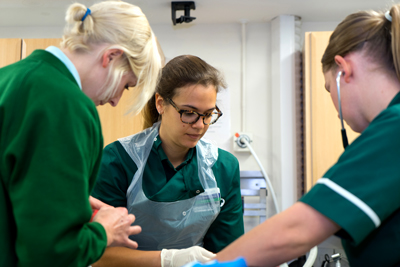 Severn Edge veterinary staff at work